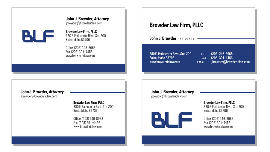 BLF business card designs